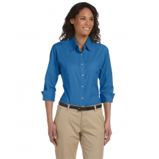 Devon & Jones DP625W Ladies' Three-Quarter-Sleeve Stretch Poplin Blouse