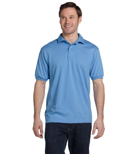 054 by Hanes 5.5 oz., 50/50 EcoSmart® Jersey Knit Polo