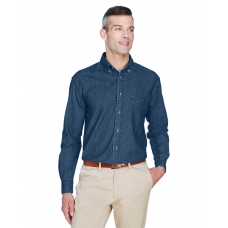 Harriton M550 Men's Long-Sleeve Denim Shirt