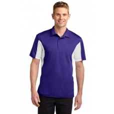 Sport Tek ST655 Micro Pique 100% Polo with side Colorblock