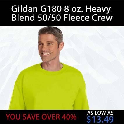 Gildan G180 8 oz. Heavy Blend 50/50 Fleece Crew