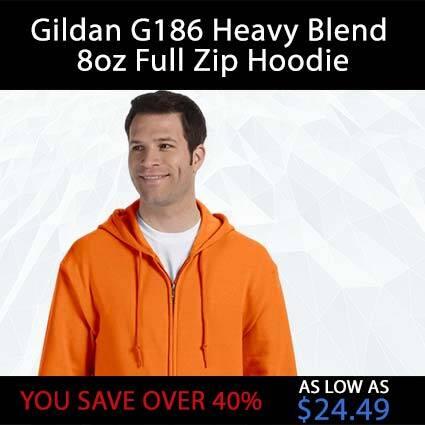 Gildan G186 Heavy Blend 8oz Full Zip Hoodie