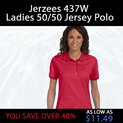 Jerzees 437W Ladies 50/50 Jersey Polo
